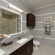 3350 at Alterra bathroom with double sink and stand up shower