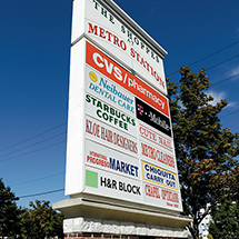 The shops at Metro Station sign near 3350 at Alterra