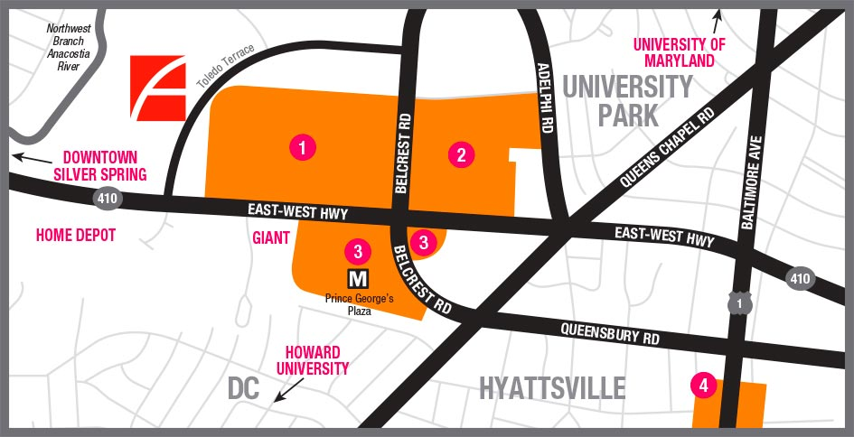 Map of Hyattsville, MD surrounding 3350 at Alterra apartments